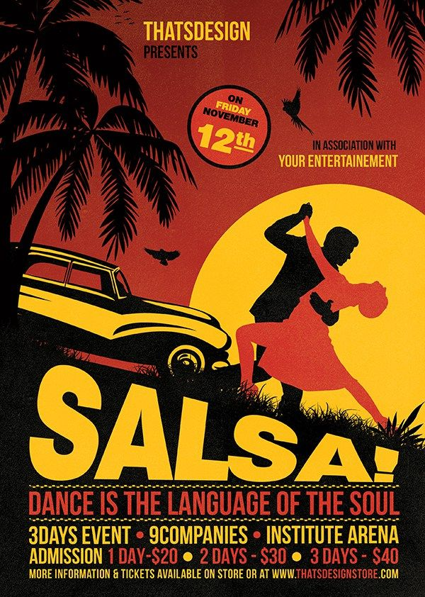 Salsa Flyer Template 3