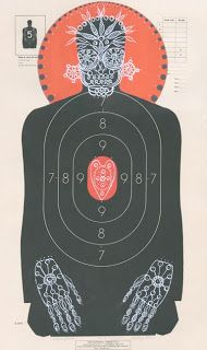 Jennifer Davis Art: Custom Hand-Painted Paper Shooting Targets