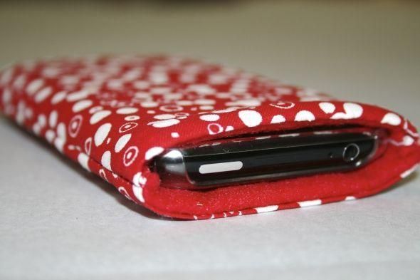 how to make a fabric phone pouch
