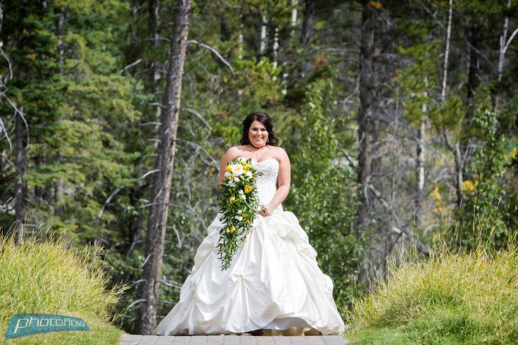Nature Mountain Wedding Cascading Bouquet Inspiration | Silvertip Resort Canmore | Persona Weddings