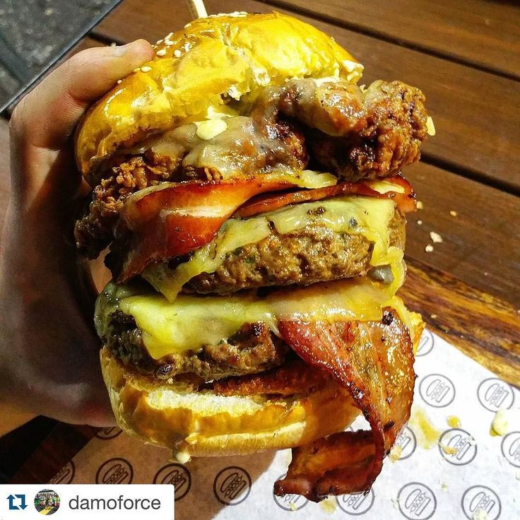 Damos modded Gordon gecko  this is an off menu burger anyone can ask for!  #Repost @damoforce with @repostapp.  Last Friday hit up @_meatinthemiddle_ with @stonay for a feed and catch up. This place is becoming my go to at the moment. Quality meats pumping out daily with full flavours. Decided to keep the size down a little   Modded Gordon Gecko.  Double beef Fried chicken Triple cheese Double bacon Crackling  Pineapple  Jalapeño aioli  Mustard Bbq sauce Onion rings  What a beauty just look…