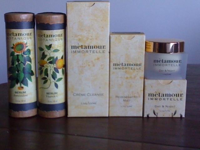 BOTANIQUE SERUMS, IMMORTELLE CREME CLEANSE, REGENERATIVE MIST AND DAY & NIGHT CREME.  www.metamourskincare.com