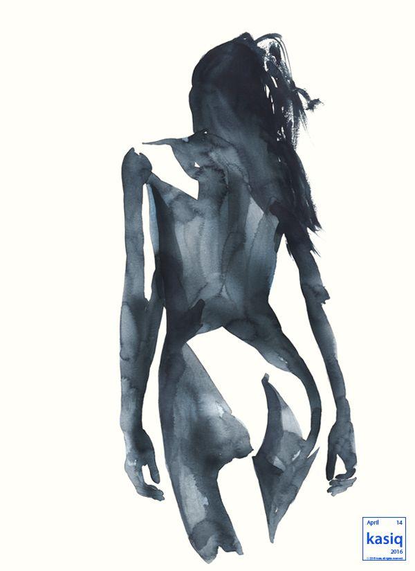 watercolor on paper by kasiq . . . . . . . #kasiq #fashion #sketch #style #sight #watercolor #drawing #artwork #b&w #painting #illustration