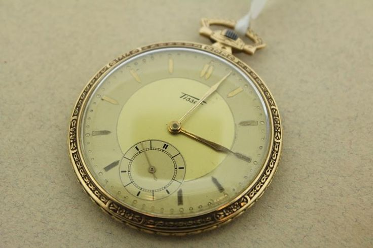 Classic and antique 14 carat golden Tissot pocket watch from the 1920's. Still working and in excellent condition. For € 900,-.  http://www.goldbergjuweliers.nl/shop/products-page/horloges-goud/zakhorloge-tissot