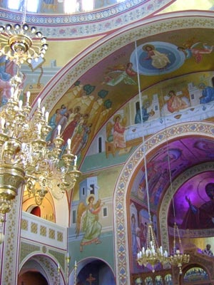 Greek Orthodox Cathedral of Candlemas of the Lord, Fira, Santorini, Greece