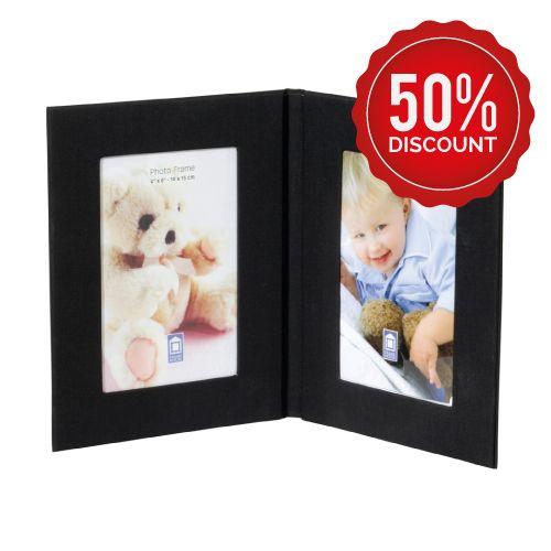 Fabric twin photo frame