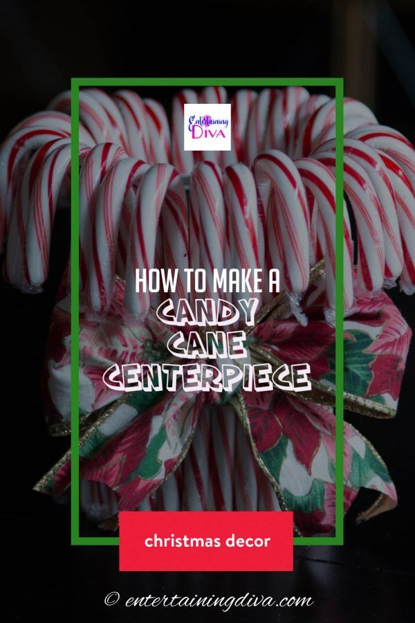 My Candy Love Christmas Event 2020 How to Make A Cheap and Easy Candy Cane Christmas Centerpiece