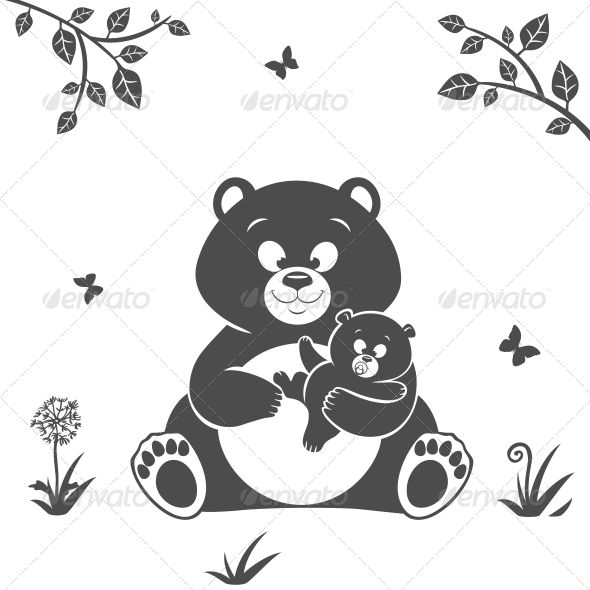 4                    Graphics Files Included:   JPG Image, Vector EPS                   Layered:   No                   Minimum Adobe CS Version:   CS             Tags      animal, art, baby, bear, black, cartoon, child, cute, day, drawing, drawn, family, female, girl, hand, happy, hug, illustration, kids, love, mom, mommy, mother, nature, outline, parent, shape, silhouette, vector, white