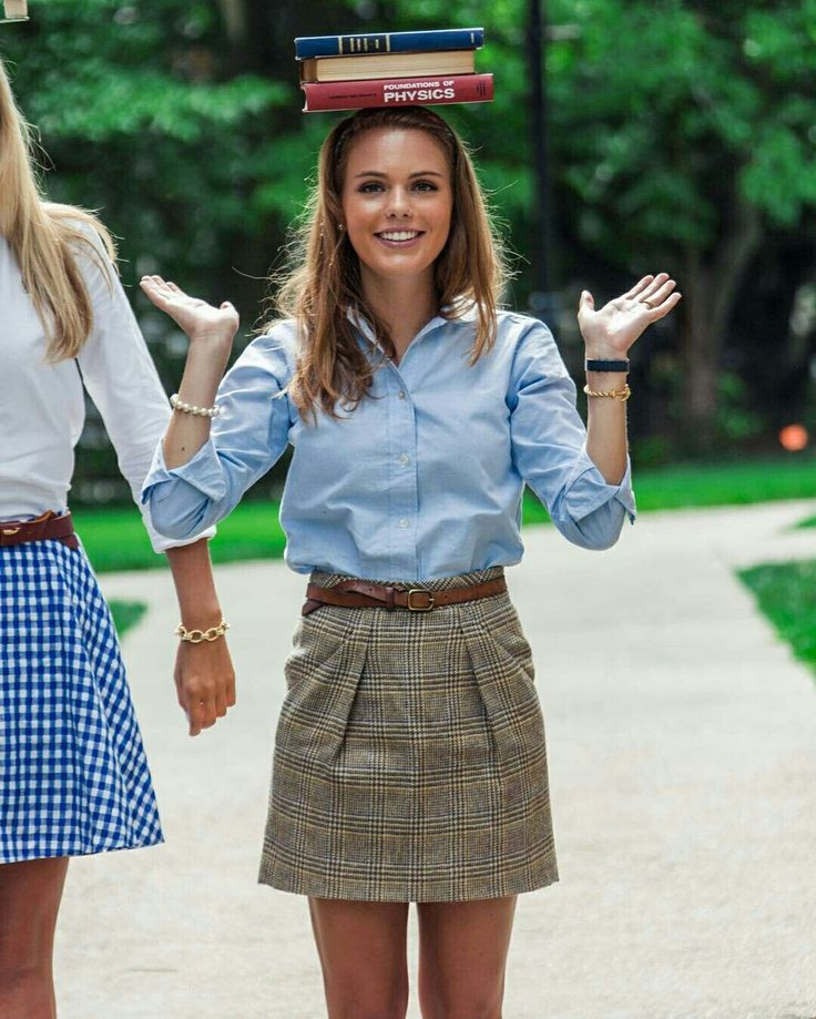 Take a look at the best preppy college outfits in the photos below and get ideas for your own outfits!!! Camel, plaid & forest green Image source