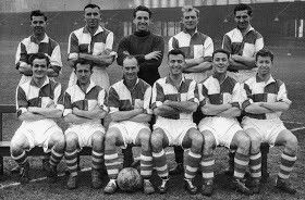 Bristol Rovers team group in 1954.