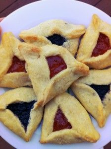 Apricot and blueberry lime jam-filled Hamantaschen for Purim