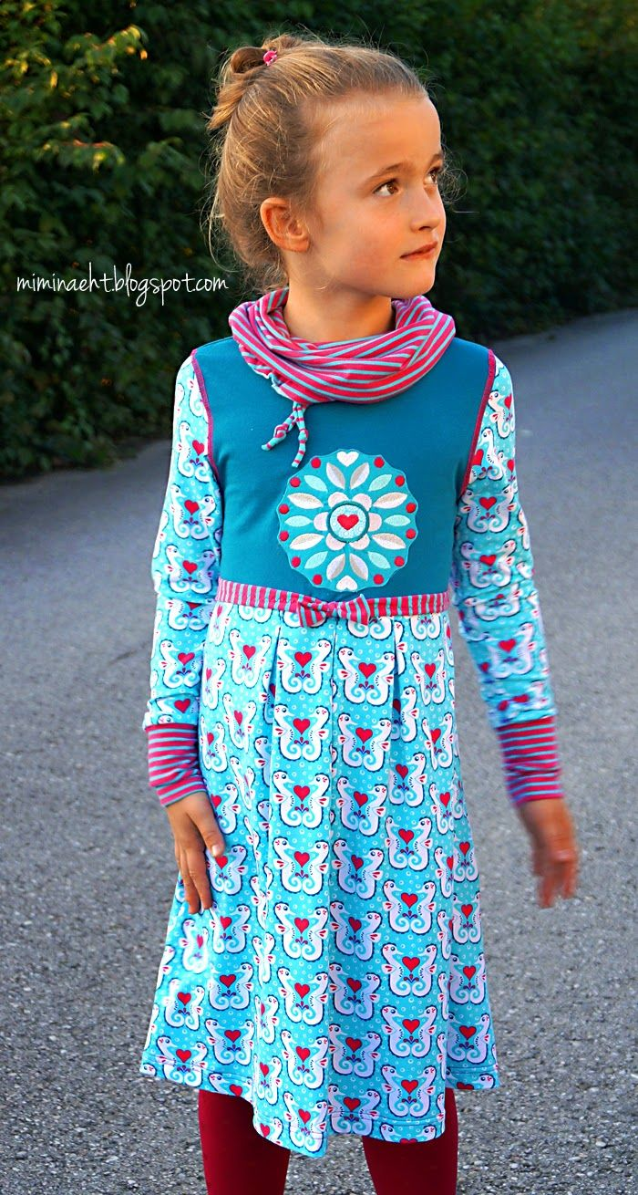 lillesol & pelle Schnittmuster/ pattern: Kleid mit Rollkragen