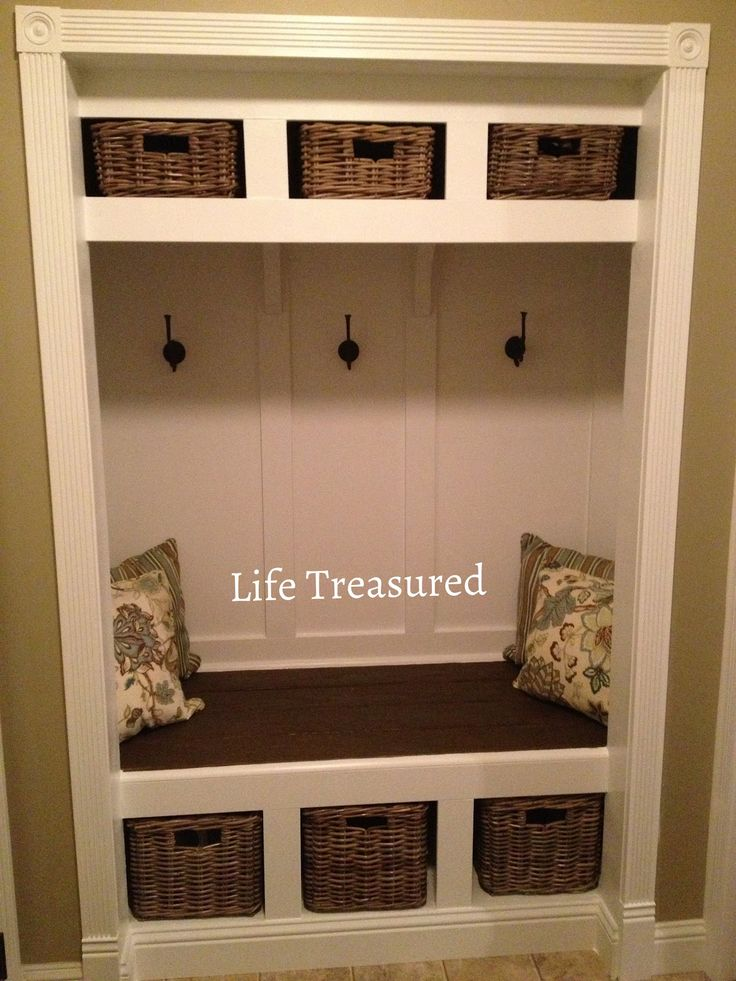 turn closet into a mudroom
