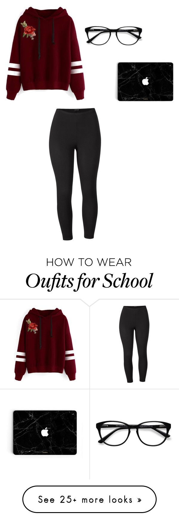 """School outfit # 34"" by thisisnotjs on Polyvore featuring EyeBuyDirect.com, WithChic, Venus and plus size clothing"
