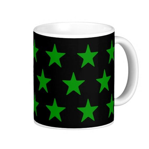 Green Stars On Black Mug  Perfect for your green and black home decor  #stars #kitchen #lounge #diningroom #white #blackandwhite #his #hers, #male #female #drink #drinking #black #lounge #diningroom #white #multicoloured #kitchen   #hers #male #female #drink #drinking #colourful #colours #designer #his   #chic #retro #modern #stylish #cute #vintage #style #radiant #happy    #birthday #anniversary #xmas #occasions #beautiful #home #bedroom    #bright #bold #love #green