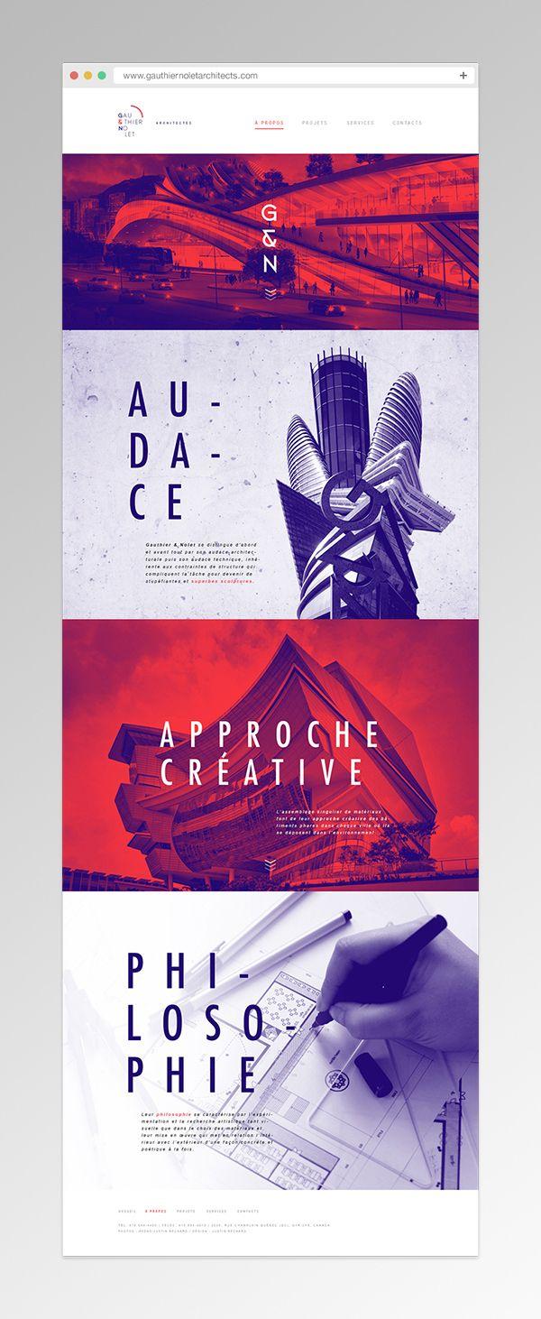 duo tone examples in graphic design 2018
