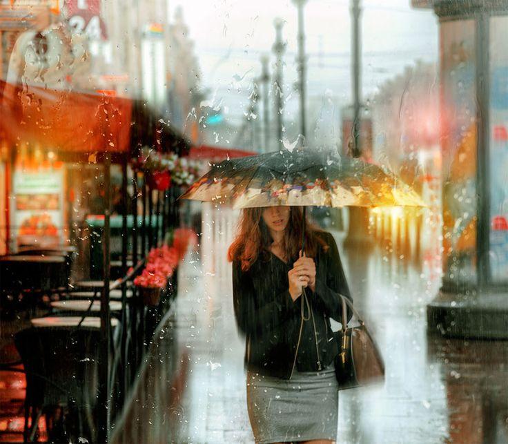Eduard Gordeev's Rainy Street Photographs Look Like Oil Paintings