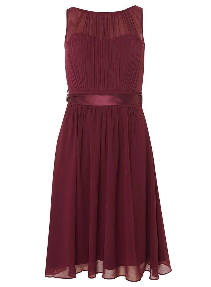 "Womens **Showcase Blackcurrant ""Beth"" Prom Dress- Purple"