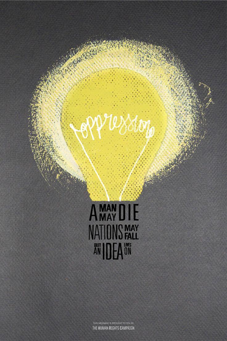 Oppression poster - lightbulb  Print  Pinterest  Oppression, Different quo...