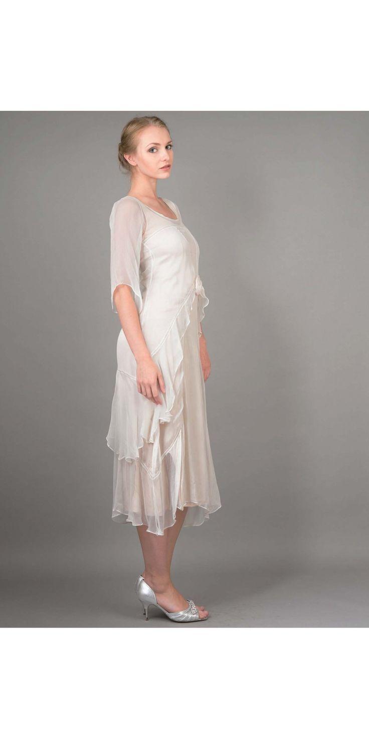 Great Gatsby Party Dress in Ivory by Nataya | Great gatsby ...