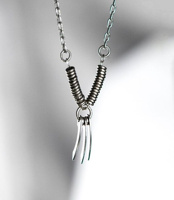 Weapon X Adamantium Wolverine X-Men Comics Superhero Inspired African Silver Necklace with Custom Designed Blades on Etsy, $22.92 AUD