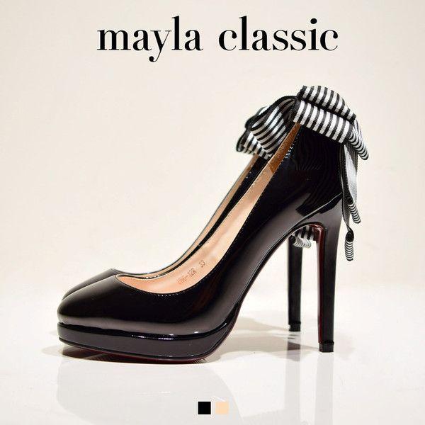 """mayla classic Guche - グーチェ -(11cmラウンドトゥタイプ)「『マイラクラシックを舞台に繰り広げられる小さなイリュージョン』「The swing」フェミニンなカーリーリボンを優雅に揺らし行ったり来たりと、ブランコを楽しむように…それはマイラクラシックを舞台に繰り広げられる小さなイリュージョン 非現実的な""""自由""""と好奇心旺盛な女性像を合わせ持つ美しくもガーリーな装い」 #pumps #fashion #mayla_classic"""