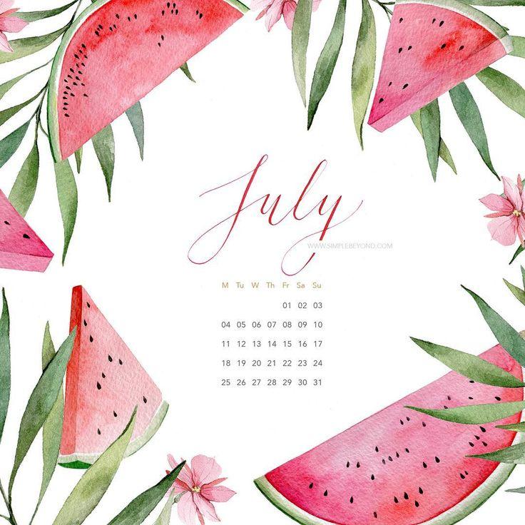 На simplebeyond.com сочный и красочный календарь на июль от @ekaterina__volkova #simplebeyondblog