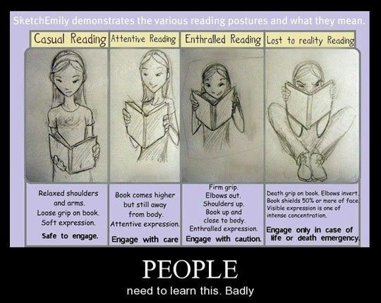 Reading... LOL the 4th one is me with a Nancy Drew book. Exactly. :P