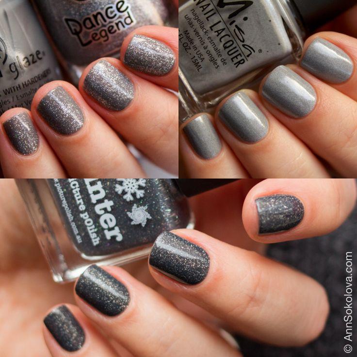 Лак для ногтей: Picture Polish Winter, China Glaze Recycle, Misa Grey Matters — не скучный серый