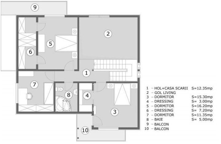 Proiecte de case pentru o familie cu patru membri Best house plans for a family of four 9