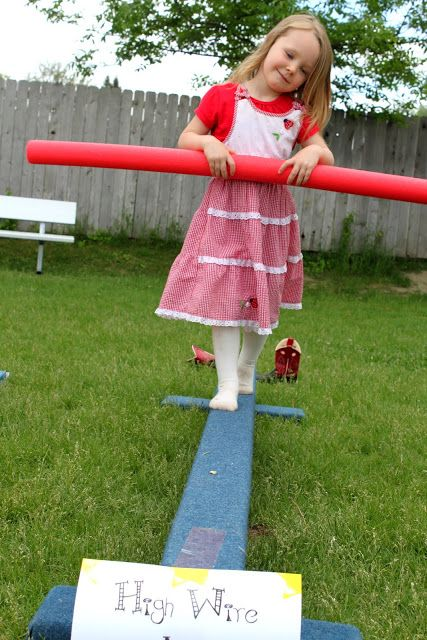Hire wire game #curcus #birthday #party Mirette on the High Wire {FI♥AR}
