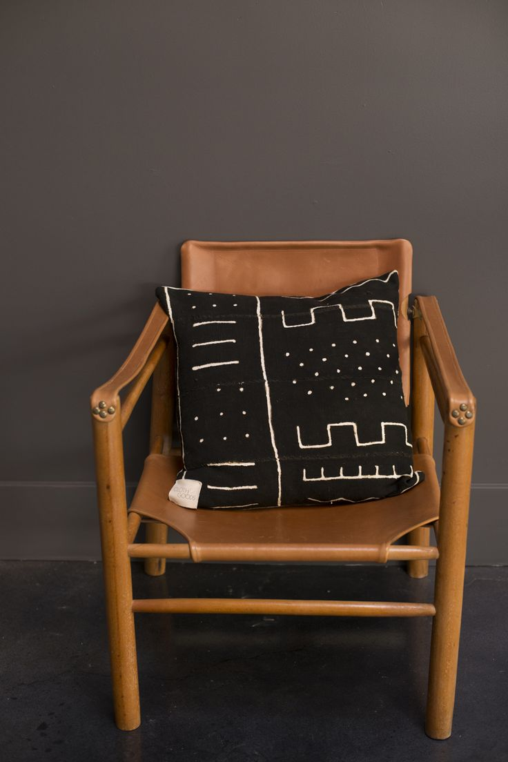 leather chair/African Tribal Pillow