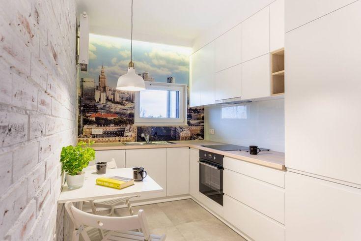 Fototapeta na ścianie w kuchni w bloku