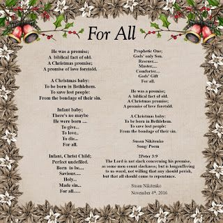 Treasure Box Poetry And Praise: For All  - Christmas Song