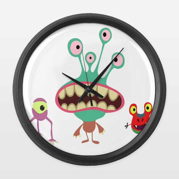 Shop for unique nursery art like the Little monsters Wall Clock by haroulita on BoomBoomPrints today!  Customize colors, style and design to make the artwork in your baby's room their own!