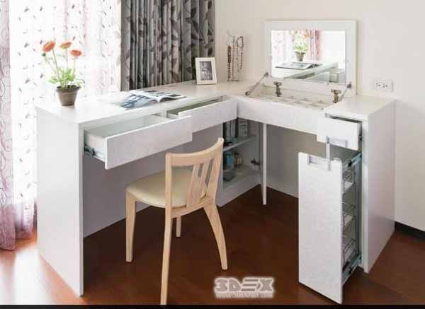 Latest Modern Corner Dressing Tables For Small Bedroom Designs 2018 Useful Tips On Choosing Corner Dressing Table Dressing Table Design Small Bedroom Designs