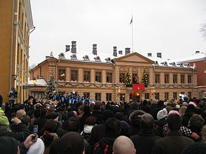 announcement of christmas peace in Finland, Turku