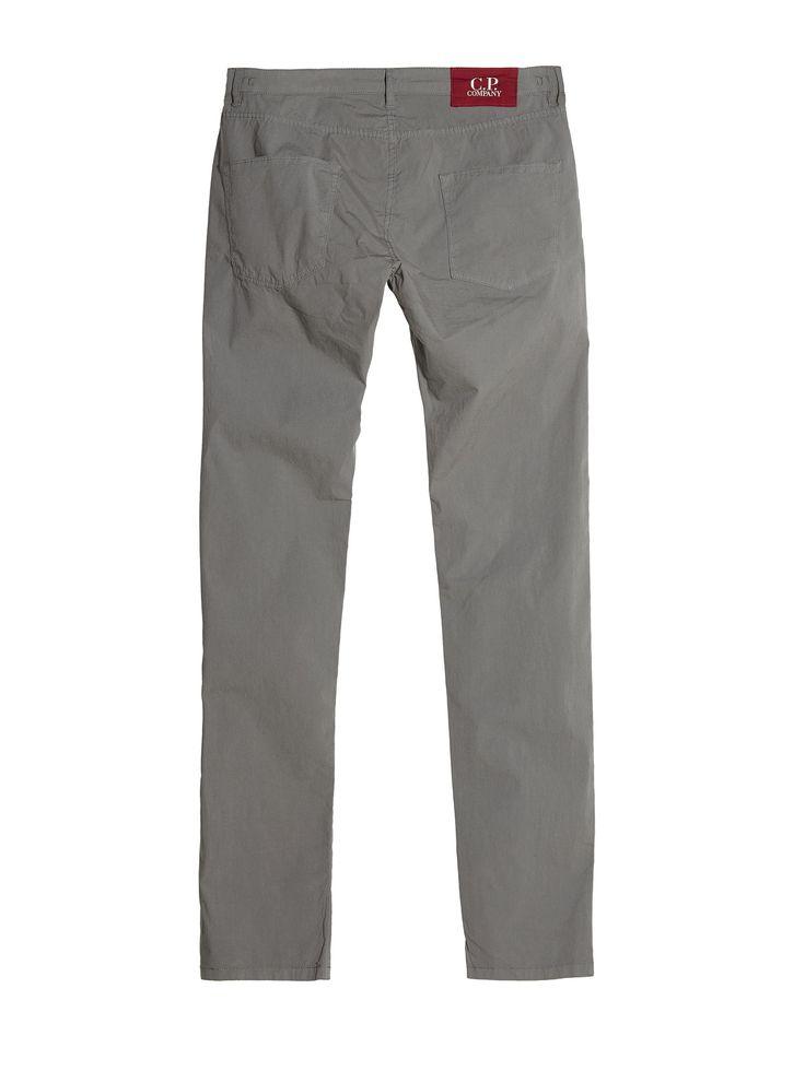 C.P. Company Stretch Poplin Five Pocket Trousers in Grey
