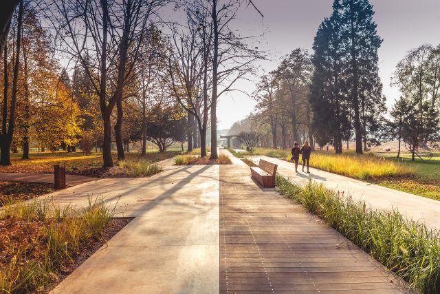Podzámecký park - Tyršovy sady Pardubice - Česká cena za architekturu