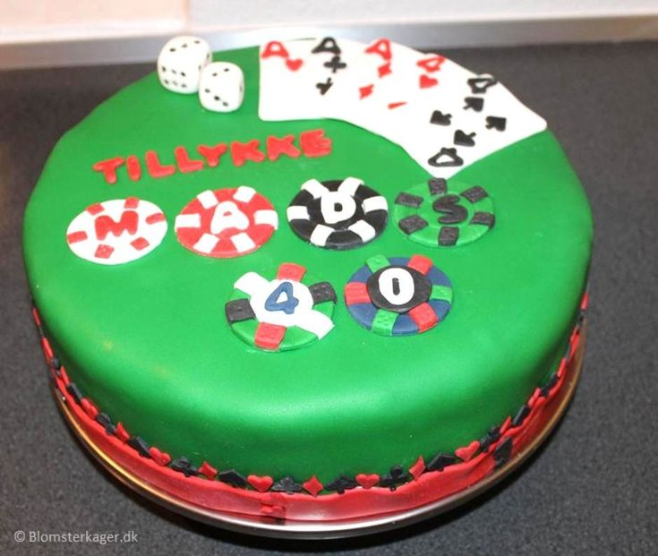 Casino kage til fødselsdag