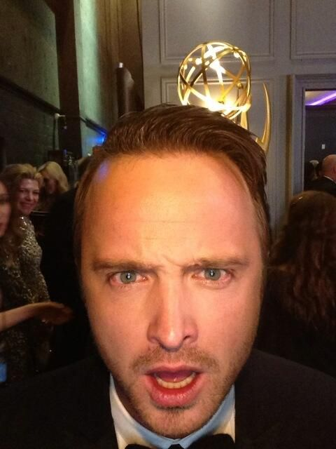 Aaron Paul at Emmys.