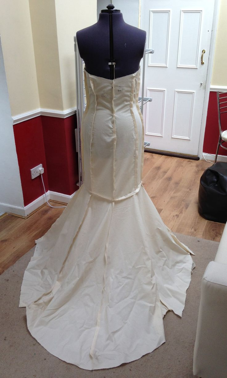 Making a wedding dress