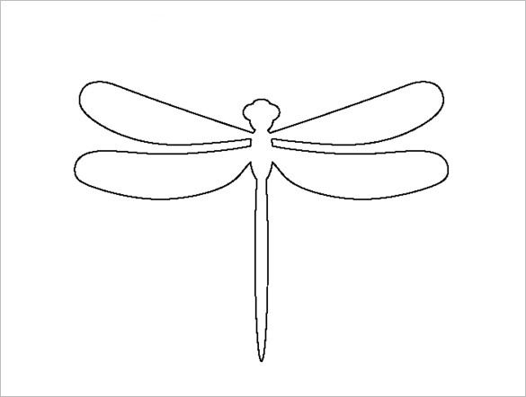 18+ Dragonfly Templates, Crafts & Colouring Pages | Free & Premium .