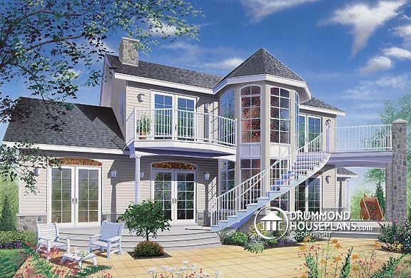 Two Story House Plan With Walkout Basement House Plans