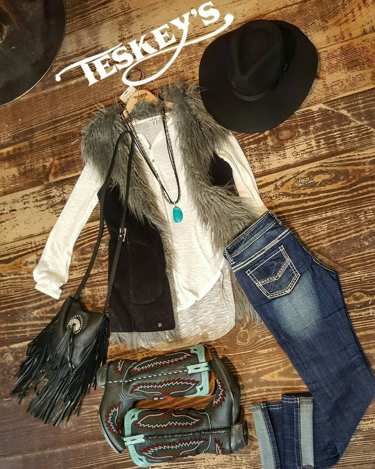 It's stock show and rodeo time!  That means time to show off! Fur and fringe is the name of the game!  - Vest: $154.99 (S and M, reversible)  - Fringe purse: $189.99  - Old Gringo, beaded eagle: $869.99   Throw on some turquoise and make it an outfit!   - Message for invoice! All sales final. Limited quantities!   #Teskeys #boutique #fortworthstockshow #rodeo #FWSSR2017 #FWSSR #stockshow #fortworth #Texasstyle #Texasknowsbest #oldgringo #OOTD #Outfitoftheday #charlie1horse