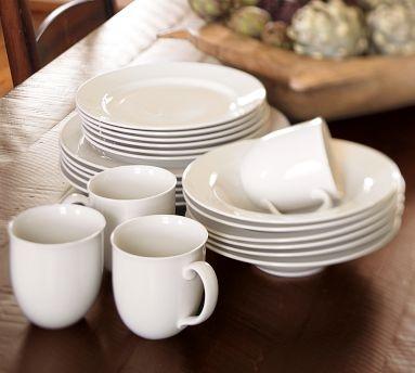 PB Great white traditional dinnerware