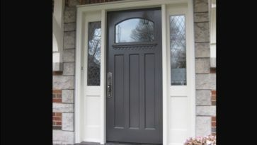 Doors: Mahogany Front Door With Sidelights And Single Solid Wood Front Door from Ideal Home with the Front Door with Sidelights