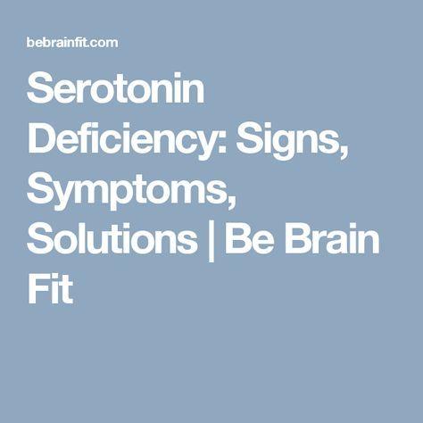 low serotonin physical symptoms