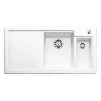 Blanco Axon II 6 S Spüle Becken Keramik PuraPlus® kristallweiß