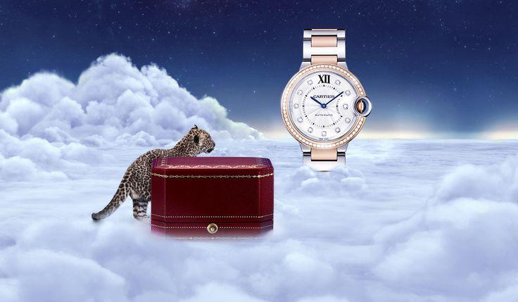 Diamond accents make this exceptional timepiece. #CartierBallon